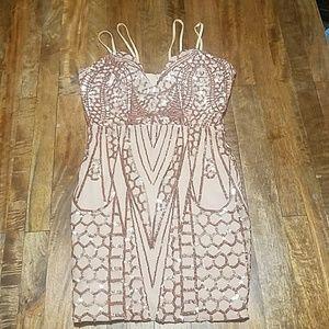 Rose Gold Shimmer Dress
